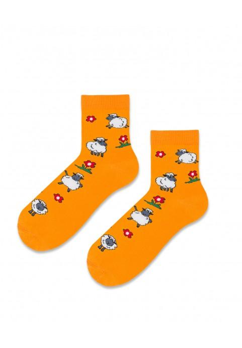 Skarpetki pomarańczowe baranki
