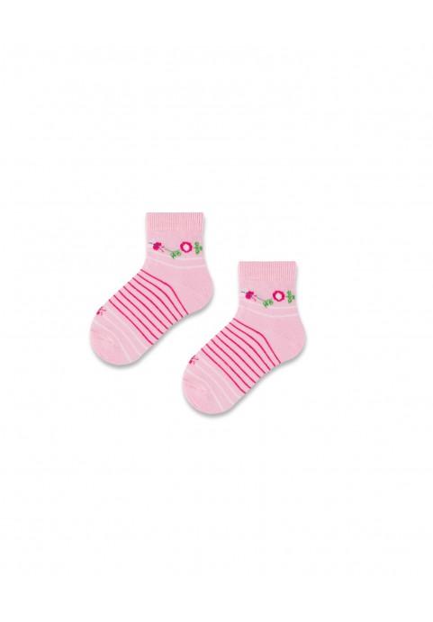 Skarpetki różowe paski